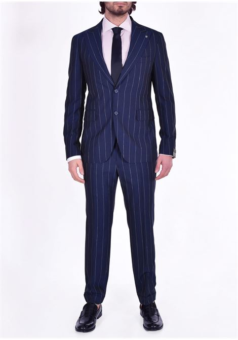 Tagliatore blue pinstripe suit 2svs26b11 TAGLIATORE | 52REA072B3117