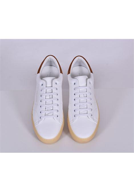 Sneakers Tagliatore bull bianco cuoio TAGLIATORE   Scarpe   HNE2102