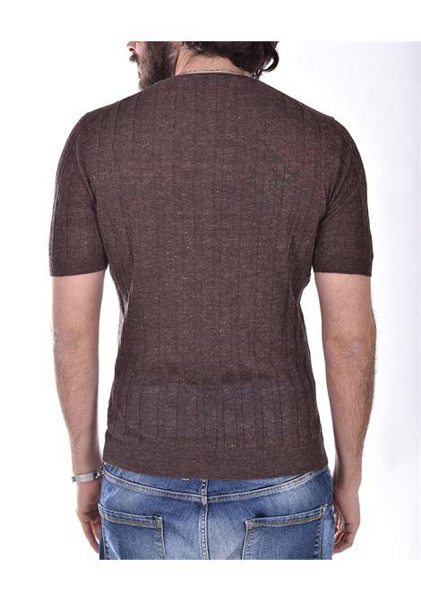 T shirt Tagliatore lino marrone TGCLI543 TAGLIATORE | T-shirt | TGCLI543175