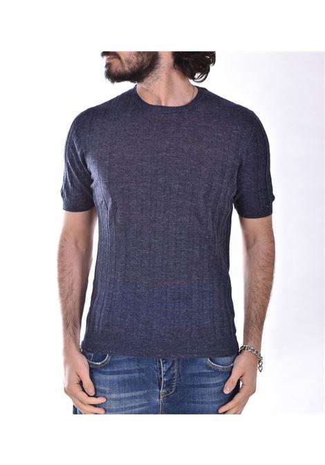 Blue Linen Tagliatore T shirt TGCLI543 TAGLIATORE | T-shirts | TGCLI543596