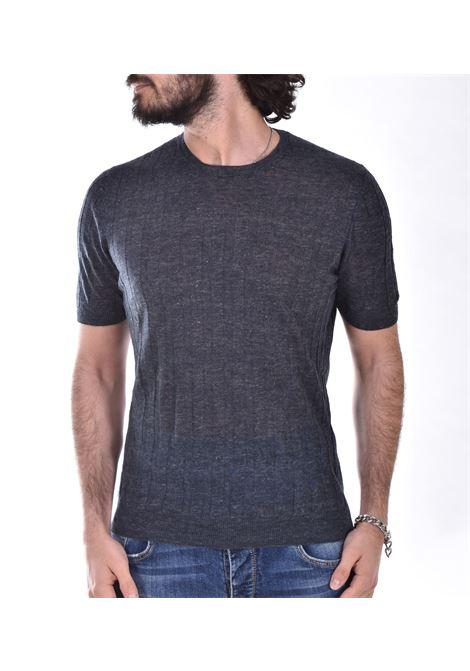 T shirt Tagliatore lino blu notte TGCLI543 TAGLIATORE | T-shirt | TGCLI543597