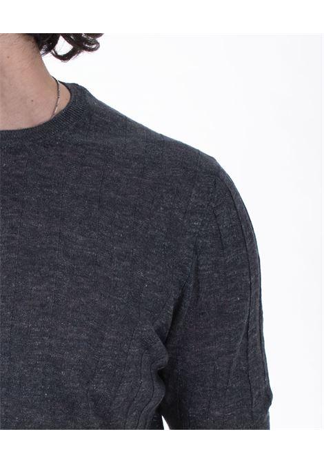 T-shirt Tagliatore linen blue night TGCLI543 TAGLIATORE | T-shirts | TGCLI543597