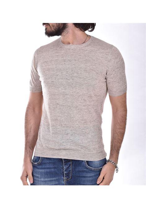 T shirt Tagliatore lino beige TGCLI543 TAGLIATORE | T-shirt | TGCLI577110