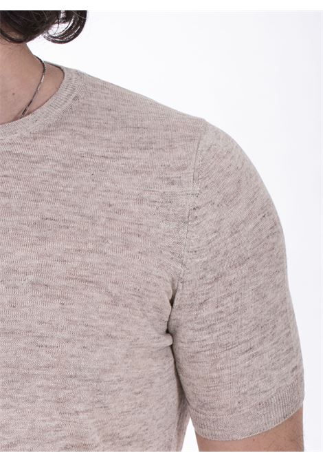 T shirt Tagliatore lino beige TGCLI543 TAGLIATORE | TGCLI577110