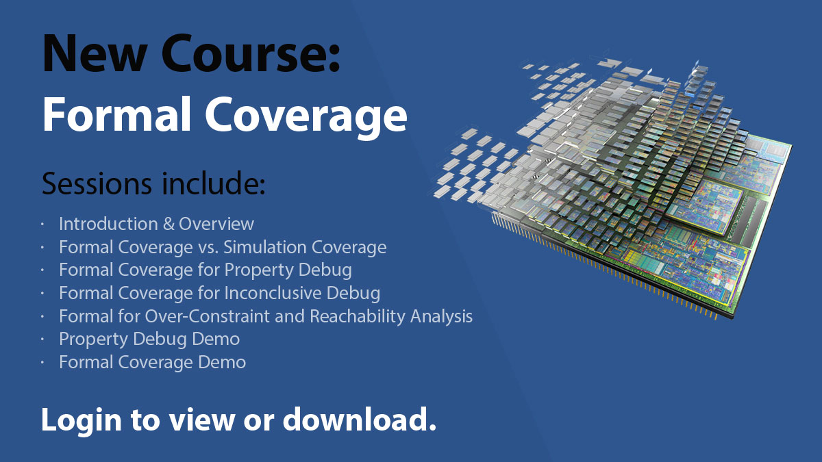 New Verification Academy Course - Formal Coverage