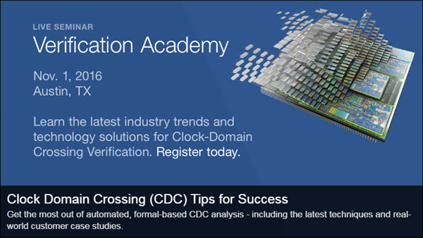 Live Seminar - Clock-Domain Crossing (CDC) Tips for Success | November 1st | Austin, TX