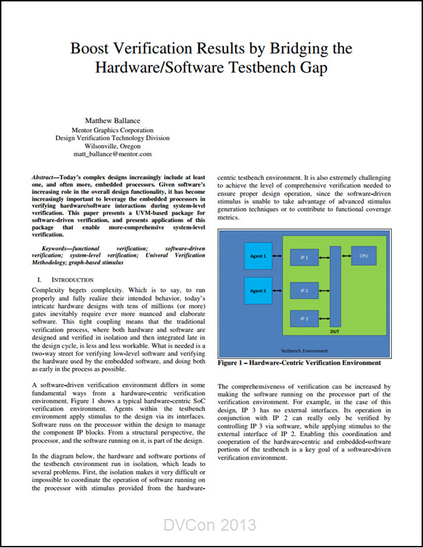 Boost Verification Results by Bridging the Hardware/Software Testbench Gap