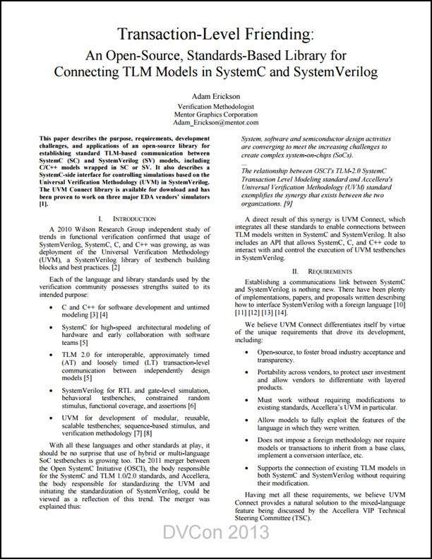 Transaction-Level Friending - An Open-Source, Standards-Based Library for Connecting TLM Models in SystemC and SystemVerilog