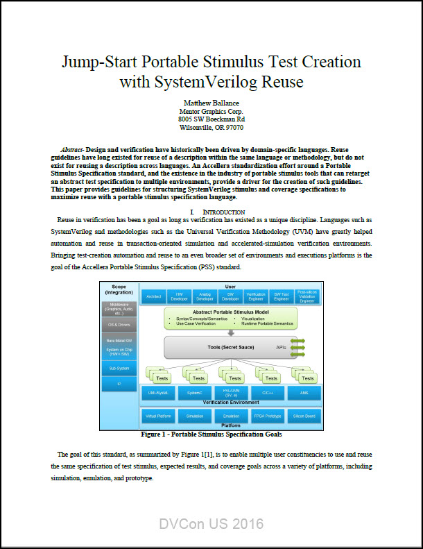 Jump-Start Portable Stimulus Test Creation with SystemVerilog Reuse