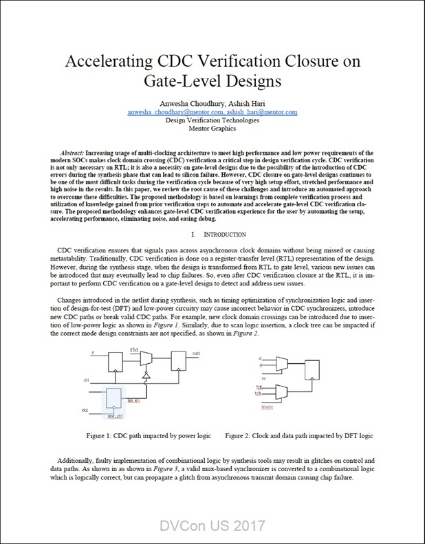 Accelerating CDC Verification Closure on Gate-Level Designs