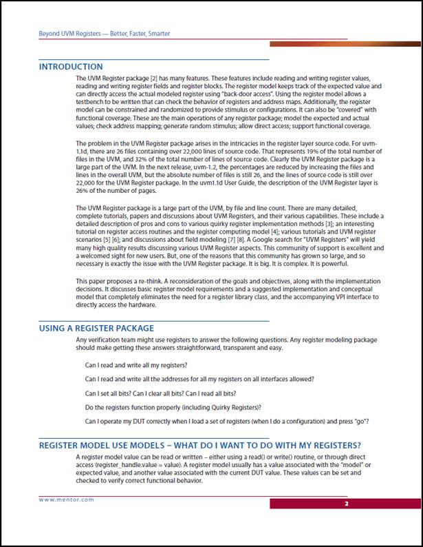 Beyond UVM Registers - Better, Faster, Smarter
