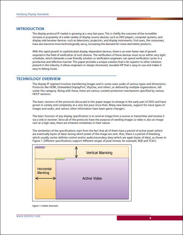 Verifying Display Standards–A Comprehensive UVM-based Verification IP Solution