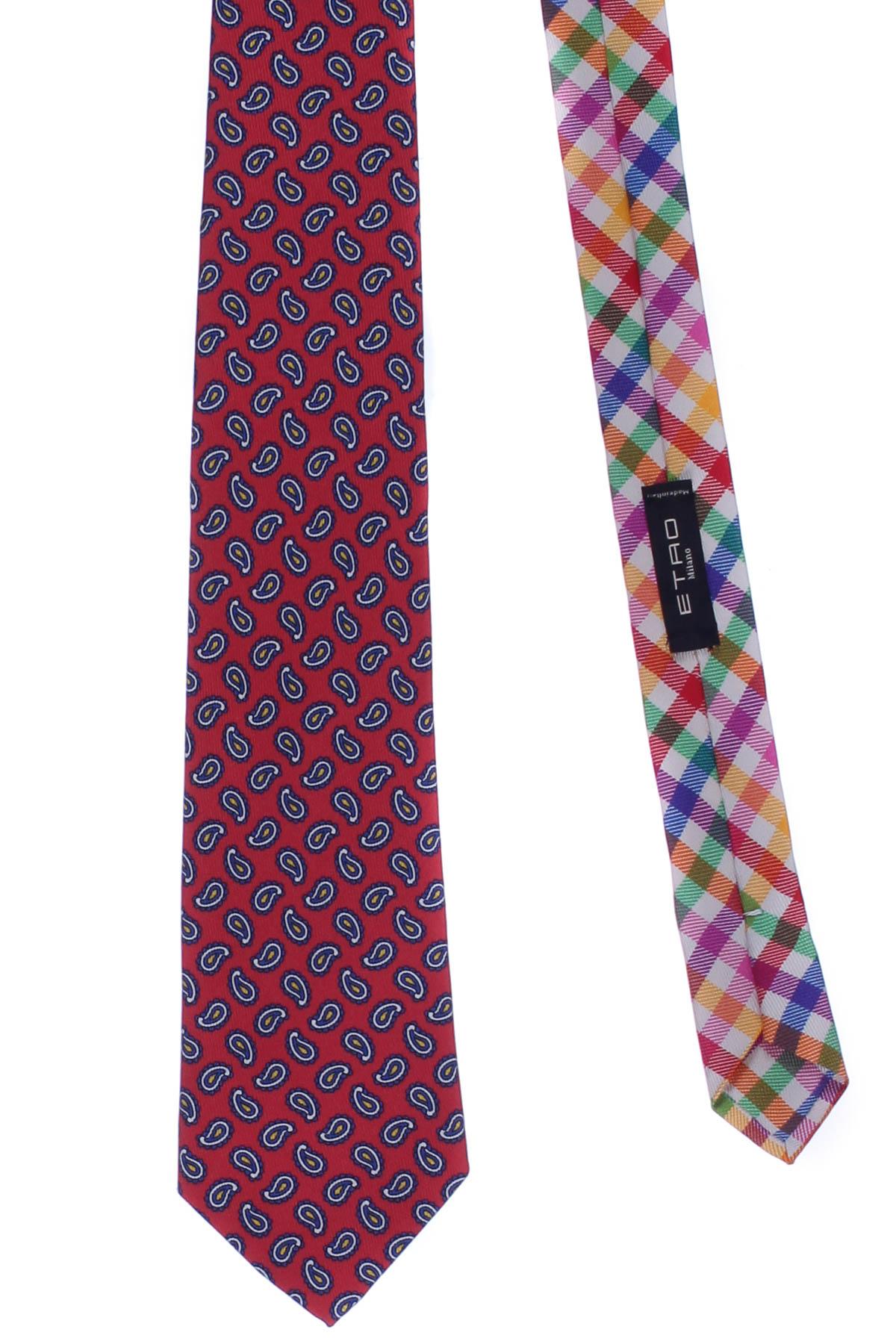 premium selection 51293 8ce79 Cravatta 2 tessuti in seta stampata