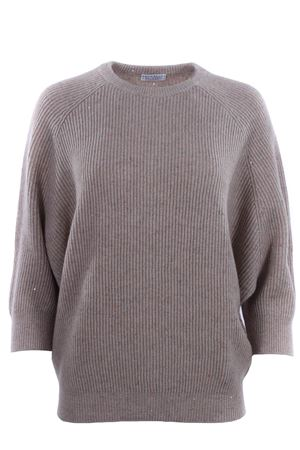 Crew neck with 3/4 sleeve