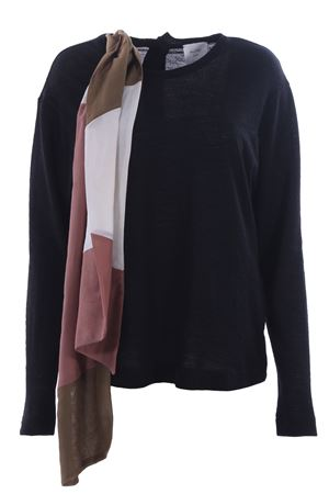 Wool crew neck with scarf ALYSI | -161048383 | 158414A8031NERO