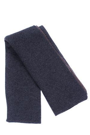 Scaldacollo bicolore in cashmere BOYLE | 5032273 | 155GRIS2/LEGNO