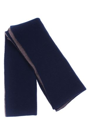 Scaldacollo bicolore in cashmere BOYLE | 5032273 | 155NOTTURNO/LEGNO