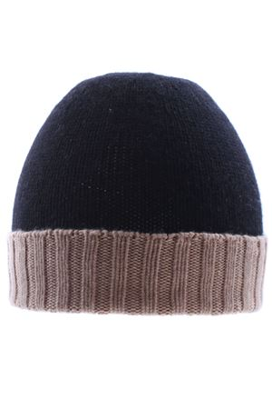 Two-tone cashmere cap BOYLE | 5032304 | 198BSABBIA/NERO