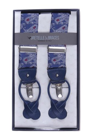 Bretelle paisley in seta BRACES | 51 | 102VAR0120BLU