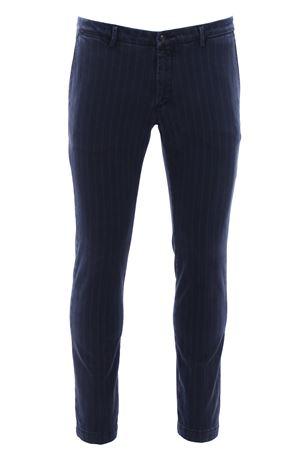 Pantalone gessato in cotone delave