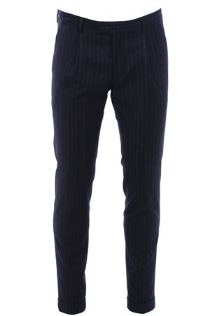 Stretch wool pinstripe pants 