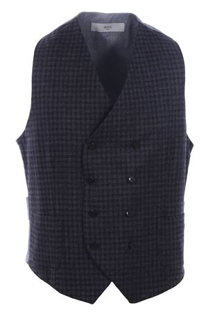 Checked flannel vest
