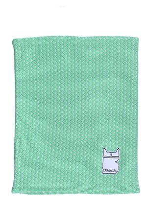 Merino wool neck warmer BULLISH | 5032273 | GORRO PATTERNVERDE-BIANCO