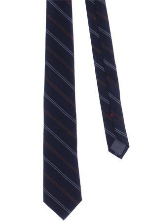 Cravatta in tela di lana a righe CUCINELLI | 5032289 | MG8920018CS538