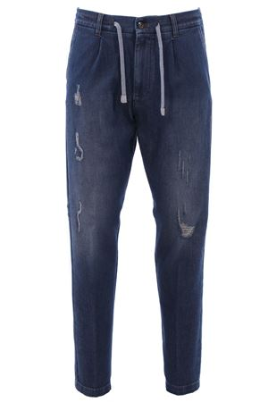 Pantalone jogging in denim a coste ELEVENTY | 24 | 979PA0257PAN2601808