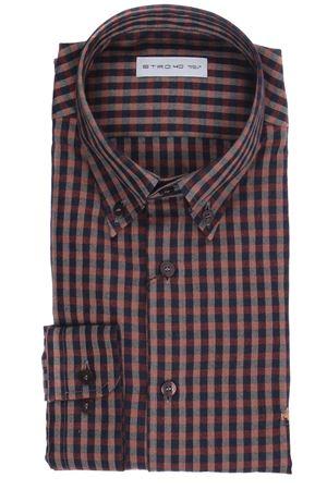 Camicia mandy a quadretti in flanella di cotone leggero ETRO   5032279   138643225751
