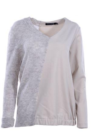 Felpa con inserto in lana EUROPEAN CULTURE | -161048383 | 46X095000304