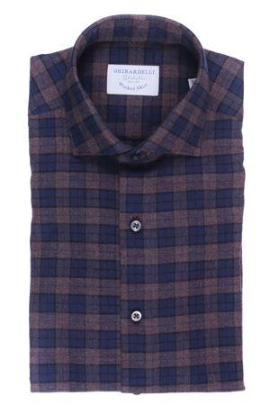 Camicia a quadri in flanella di cotone lavato GHIRARDELLI | 5032279 | L69B878N111903