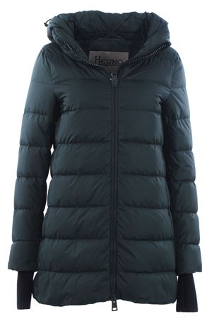 Asymmetrical down jacket with hood HERNO | 5032285 | PI0660D120047780