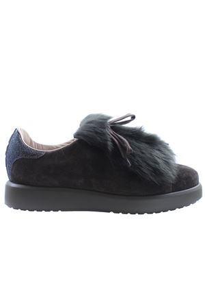 Velour and sheepskin sneakers