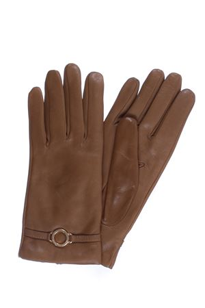 Leather gloves L