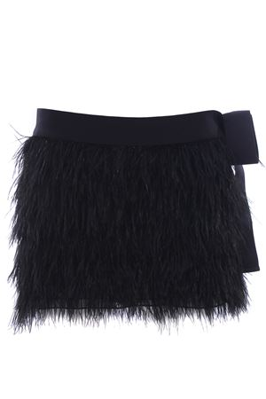 Mini skirt with feathers