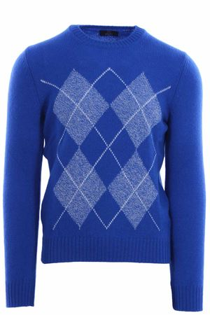 Girocollo argyle in air wool N&L | -161048383 | 1311722620565