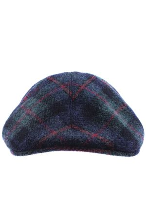 Wool check cap