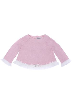 Cotton and wool crew neck