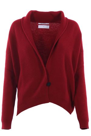 Cardigan in lana con revers a scialle POMANDERE | -161048383 | 18281887407146