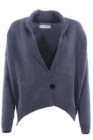 Cardigan in lana con revers a scialle POMANDERE | -161048383 | 18281887407196