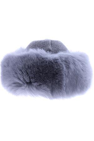 Cappello bordo pelliccia REGINA   5032304   80603FUMO
