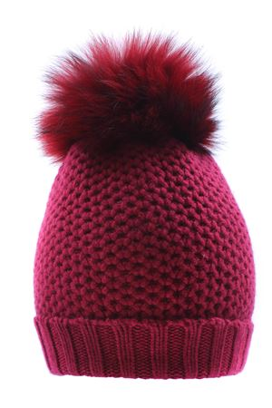 Hat with pom pon