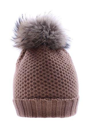 Cappello con pon pon REGINA | 5032304 | 80670DESERTO