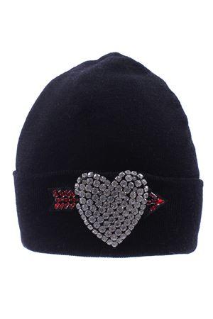 Cappello con cuore in strass REGINA   5032304   80826NERO