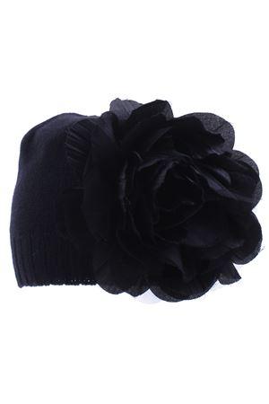 Cappello con  fiore applicato REGINA | 5032304 | 80879INCHIOSTRO