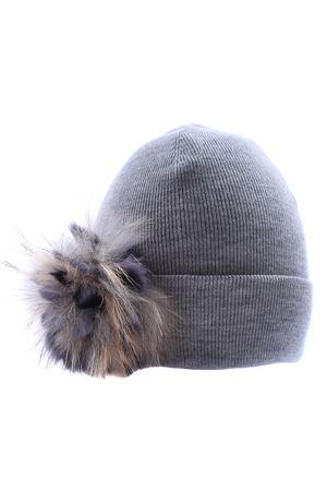 Hat with flower brooch REGINA   5032304   80891ALLUMINIO