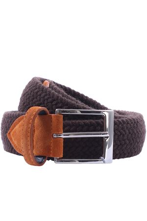 Wool belt in woven elastic