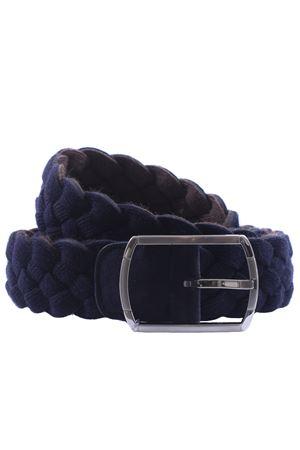 Cintura reversibile in lana intrecciata natural comfort SADDLER