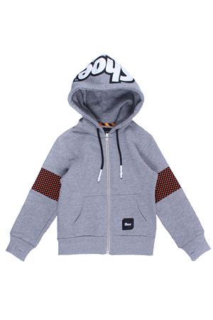 Felpa full zip con cappuccio SHOE | -161048383 | A8ZM4001HEATHER